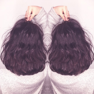 ガーリー ボブ デート パーマ ヘアスタイルや髪型の写真・画像