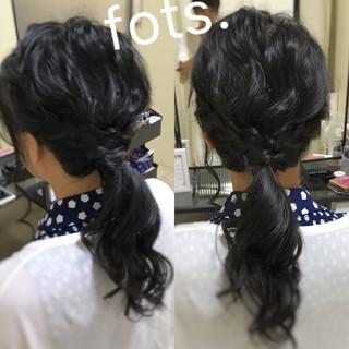 ヘアアレンジ 大人可愛い デート 編み込みヘア ヘアスタイルや髪型の写真・画像
