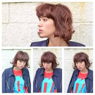 ウェーブ ボブ モード ストリート ヘアスタイルや髪型の写真・画像