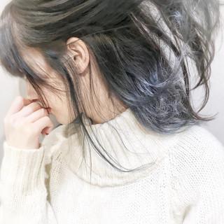 ハイライト 秋 こなれ感 モード ヘアスタイルや髪型の写真・画像