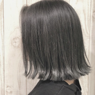 春 切りっぱなし ストリート オルチャン ヘアスタイルや髪型の写真・画像