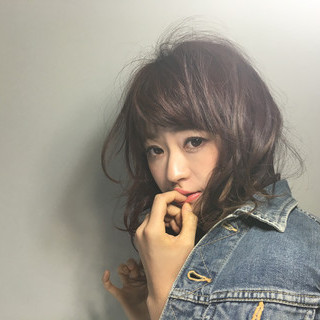ロング ハイライト ヘアアレンジ 暗髪 ヘアスタイルや髪型の写真・画像