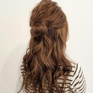 ヘアアレンジ ロング 簡単ヘアアレンジ 大人かわいい ヘアスタイルや髪型の写真・画像