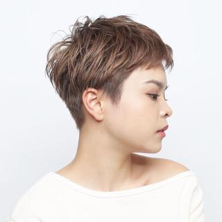 ハンサムショート スポーツ イメチェン アウトドア ヘアスタイルや髪型の写真・画像