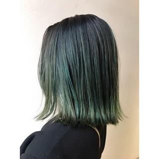 ハイトーン ボブ 透明感 カラーバター ヘアスタイルや髪型の写真・画像