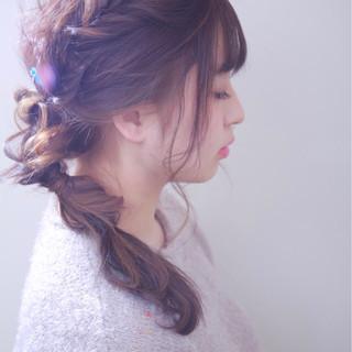 外国人風カラー 結婚式 ヘアアレンジ ゆるふわ ヘアスタイルや髪型の写真・画像