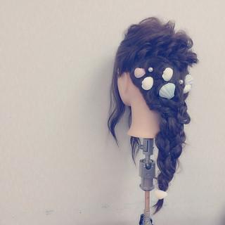 簡単ヘアアレンジ 愛され フェミニン ショート ヘアスタイルや髪型の写真・画像