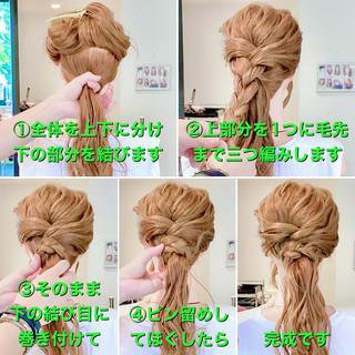 ヘアアレンジ セルフヘアアレンジ ポニーテールアレンジ 簡単ヘアアレンジ ヘアスタイルや髪型の写真・画像