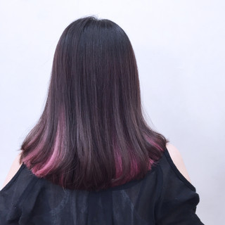 色気 ボブ モード インナーカラー ヘアスタイルや髪型の写真・画像
