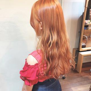 ロング かわいい ガーリー ヘアアレンジ ヘアスタイルや髪型の写真・画像