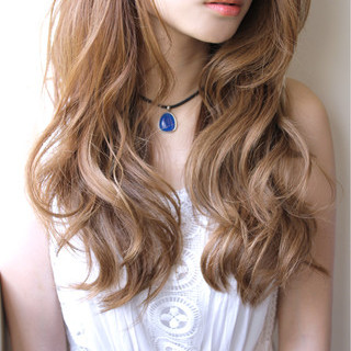 ハイライト アッシュ ガーリー ロング ヘアスタイルや髪型の写真・画像