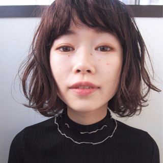 ボブ 色気 ニュアンス パーマ ヘアスタイルや髪型の写真・画像
