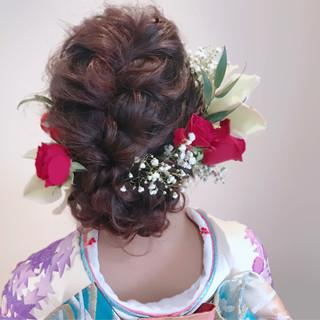 ヘアアレンジ ロング 振袖 成人式 ヘアスタイルや髪型の写真・画像