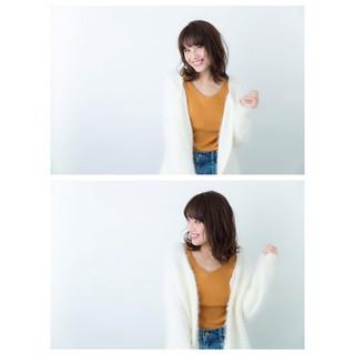 大人女子 大人かわいい 抜け感 ミディアム ヘアスタイルや髪型の写真・画像