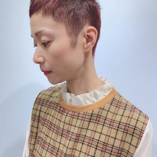 ベリーピンク モード おしゃれさんと繋がりたい ショート ヘアスタイルや髪型の写真・画像