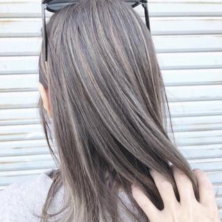 外国人風カラー コントラストハイライト ストリート ハイライト ヘアスタイルや髪型の写真・画像
