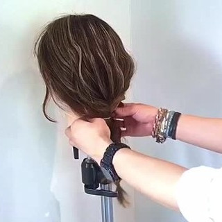 ヘアアレンジ キャップ デート ガーリー ヘアスタイルや髪型の写真・画像