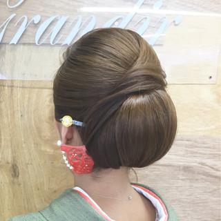 着物 ヘアアレンジ 結婚式 訪問着 ヘアスタイルや髪型の写真・画像