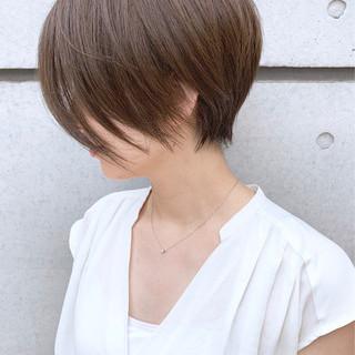 ショートボブ ショート 小顔ショート 前下がりボブ ヘアスタイルや髪型の写真・画像