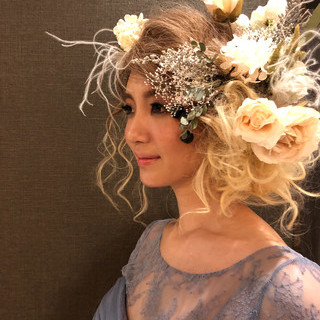 花嫁 ロング モード ブライダル ヘアスタイルや髪型の写真・画像