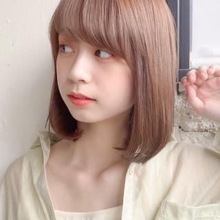 縮毛矯正ストカール ミディアム ストレート ナチュラル ヘアスタイルや髪型の写真・画像
