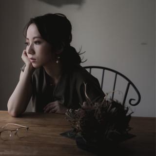 エレガント リラックス ヘアアレンジ 秋 ヘアスタイルや髪型の写真・画像