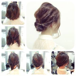 簡単ヘアアレンジ 結婚式 ストリート アップスタイル ヘアスタイルや髪型の写真・画像