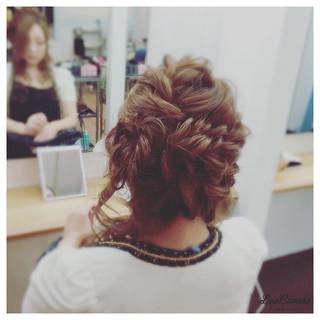 大人かわいい ロング アップスタイル 編み込み ヘアスタイルや髪型の写真・画像