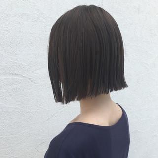ナチュラル 夏 涼しげ 切りっぱなし ヘアスタイルや髪型の写真・画像