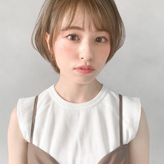 フェミニン シースルーバング ひし形シルエット 大人かわいい ヘアスタイルや髪型の写真・画像