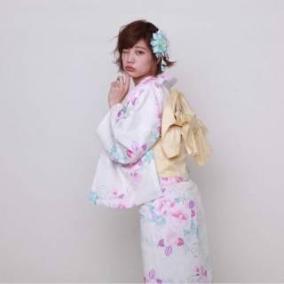 ショート モテ髪 お祭り フェミニン ヘアスタイルや髪型の写真・画像