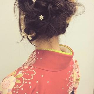 ヘアアレンジ 謝恩会 結婚式 袴 ヘアスタイルや髪型の写真・画像