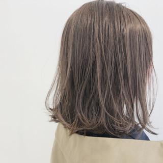 ブリーチなし ガーリー ロブ 透明感 ヘアスタイルや髪型の写真・画像