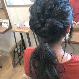 簡単ヘアアレンジ 結婚式 ポニーテールアレンジ ヘアアレンジ ヘアスタイルや髪型の写真・画像
