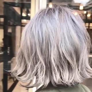 アンニュイ 外国人風カラー グレージュ ストリート ヘアスタイルや髪型の写真・画像