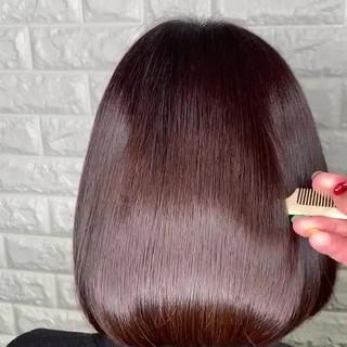 美髪 簡単ヘアアレンジ ボブ 髪質改善トリートメント ヘアスタイルや髪型の写真・画像