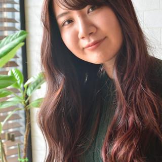 ロング ナチュラル デート 髪質改善カラー ヘアスタイルや髪型の写真・画像