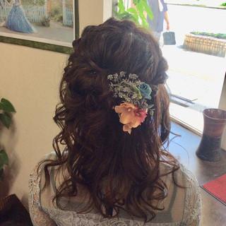 ミディアム 簡単ヘアアレンジ 結婚式 ヘアアレンジ ヘアスタイルや髪型の写真・画像