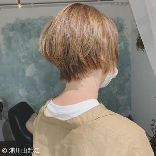 ゆるふわ ハイライト ショートボブ ボブ ヘアスタイルや髪型の写真・画像