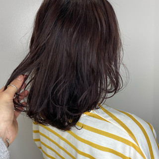 ラベンダーアッシュ ラベンダーピンク 3Dハイライト ミディアム ヘアスタイルや髪型の写真・画像