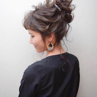 結婚式 簡単ヘアアレンジ ロング 黒髪 ヘアスタイルや髪型の写真・画像