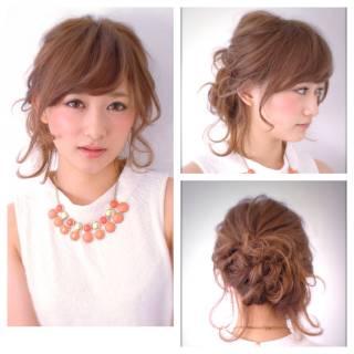 愛され アップスタイル モテ髪 簡単ヘアアレンジ ヘアスタイルや髪型の写真・画像
