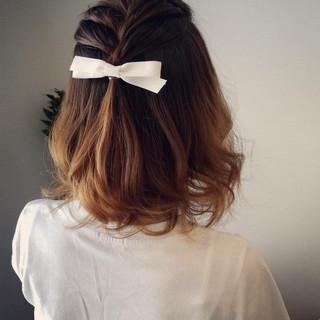 ラフ ナチュラル ヘアアレンジ 編み込み ヘアスタイルや髪型の写真・画像