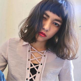 小顔 ニュアンス 外国人風 ナチュラル ヘアスタイルや髪型の写真・画像