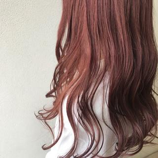 ウェーブ ロング ラベンダー 透明感 ヘアスタイルや髪型の写真・画像