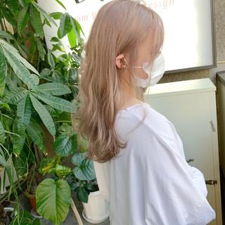透明感カラー ハイトーンカラー 最新トリートメント ナチュラル ヘアスタイルや髪型の写真・画像