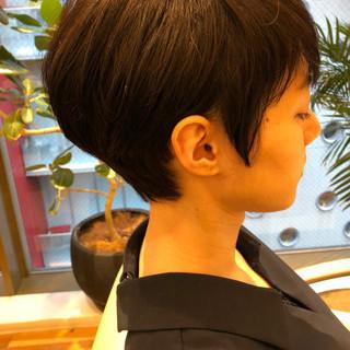 ナチュラル ベリーショート オフィス ショートボブ ヘアスタイルや髪型の写真・画像