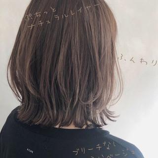 切りっぱなしボブ ボブ レイヤーカット コンサバ ヘアスタイルや髪型の写真・画像
