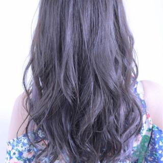 ラベンダー 外国人風 スモーキーカラー ピュア ヘアスタイルや髪型の写真・画像