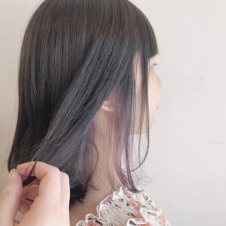 ミディアム スポーツ グレージュ フェミニン ヘアスタイルや髪型の写真・画像
